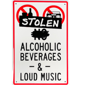 Stolen alcoholic beverages and loud music