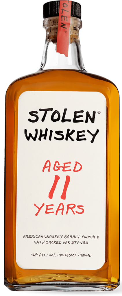 Stolen Aged Whiskey Bottle